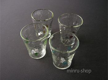 レトロな琉球ガラスのグラス
